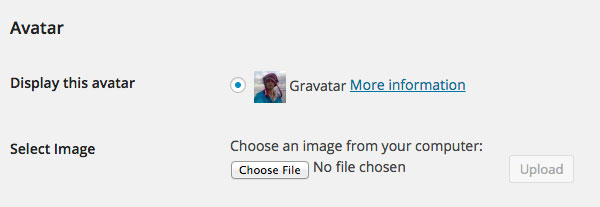 Manage you avatar in WordPress