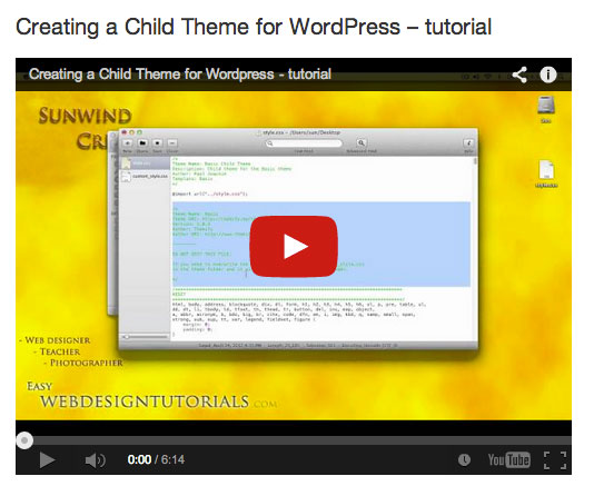 Creating a child theme