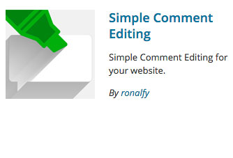 Simple Comment Editing Plugin