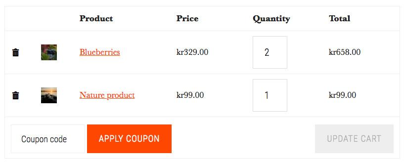 Adjusted-WooCommerce-cart-page