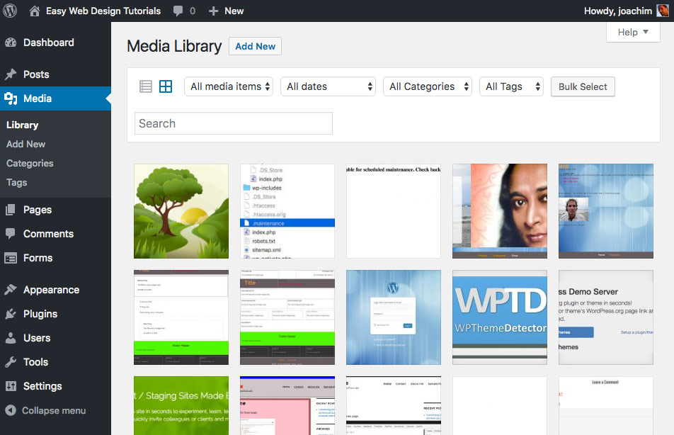 Attachment Taxonomies Media Library