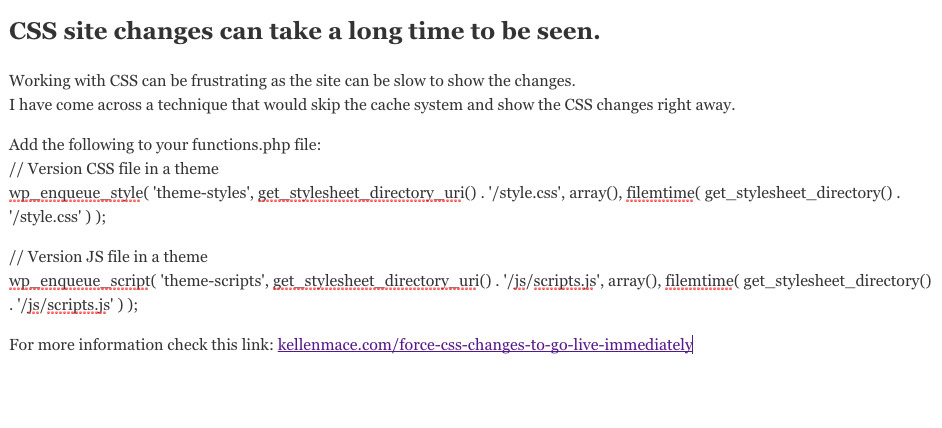 CSS-force-immediate-site-changes