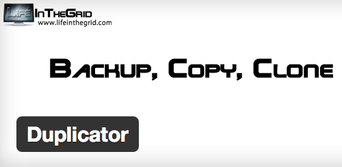 WordPress plugin Duplicator - backup, copy and clone