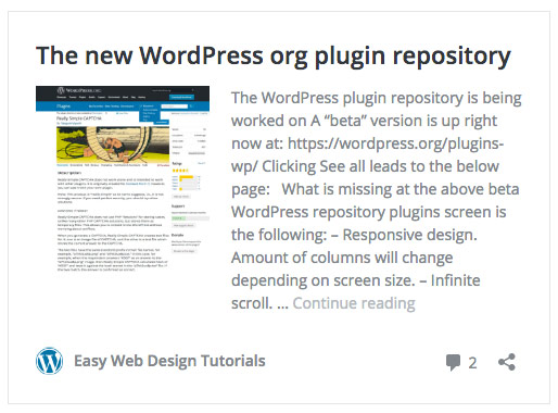 Embedding a WordPress site