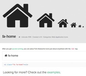 Font Awesome Home Icon