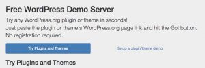 Free WordPress Demo Server. Test plugins online