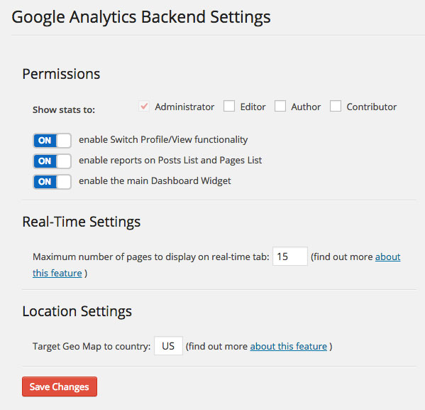 Google-Analytics-Dashboard-WP-Dashboard-Settings