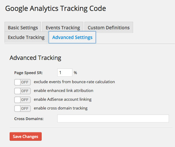 Google-Analytics-Dashboard-WP-Tracking-Code-Advanced-Settings
