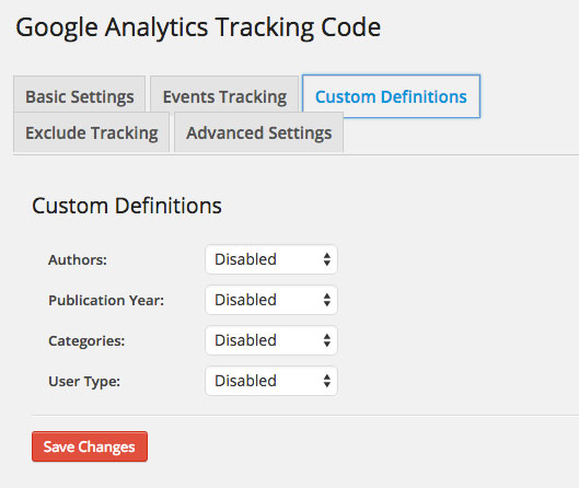 Google-Analytics-Dashboard-WP-Tracking-Code-Custom-Definitions