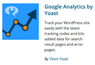 Google Analytics by Yoast plugin