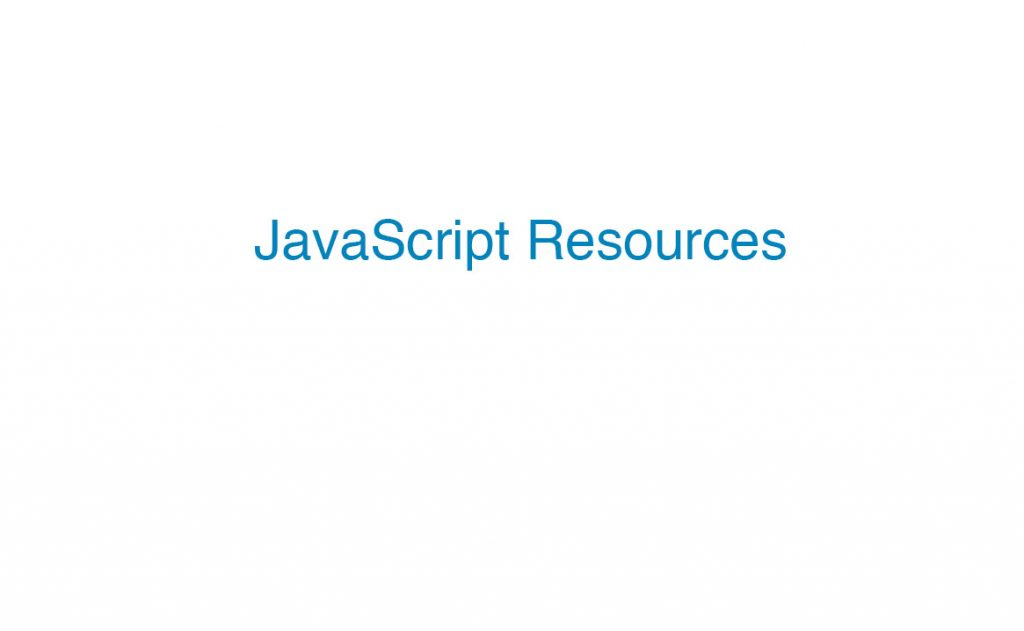 Javascript resources