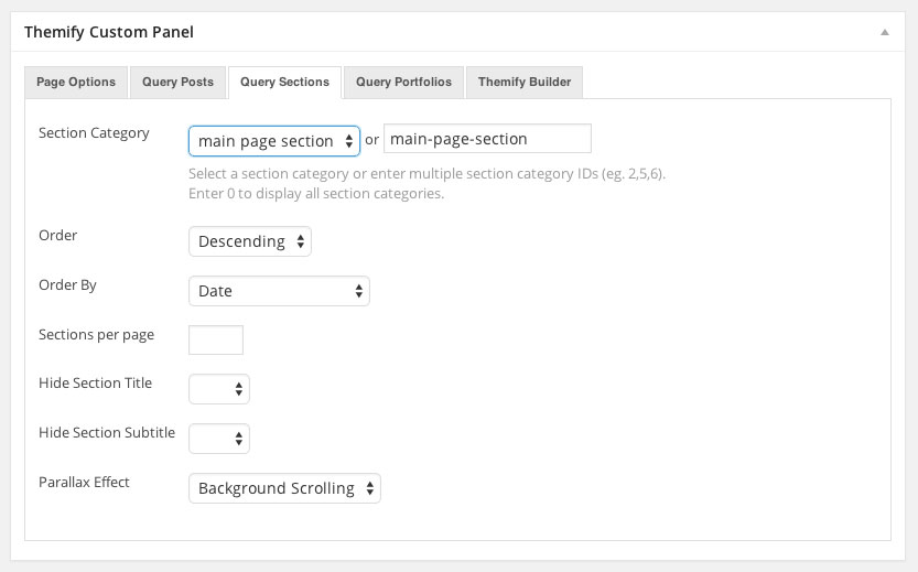Themify-Custom-Panel-Query-Sections
