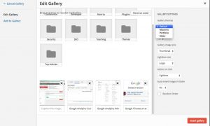 WP Media Folder: Create Gallery