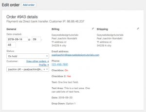WooCommerce-Order-Details-screen