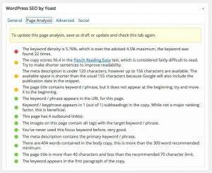 WordPress SEO Plugin Posts Pages Page Analysis